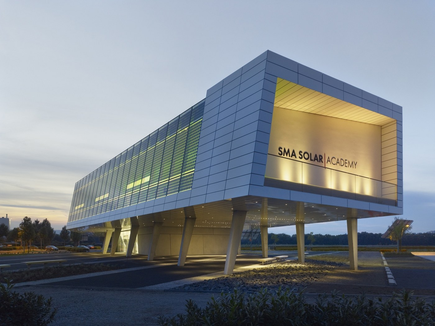 SMA Solar Academy - Side view of evening