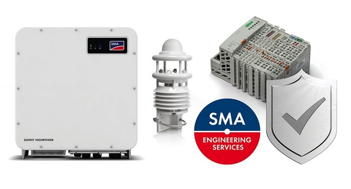 SUNNY HIGHPOWER PEAK3 extensions with Sunny Highpower Storage, SMA Engineering Services, Smart Connected for Utility Plants, Weather Station and Remote I/O